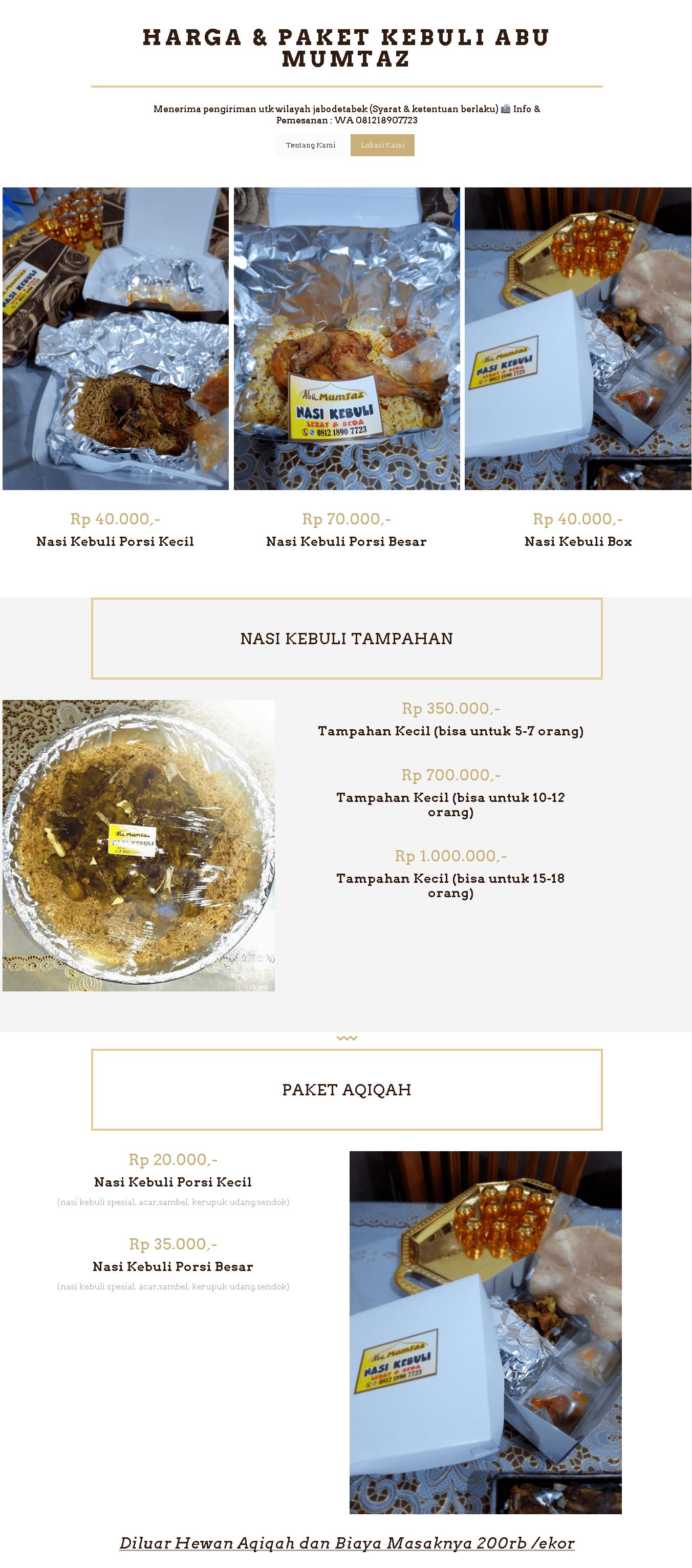 1 Harga Paket Aqiqah Jakarta 2015